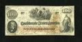 Confederate Notes:1862 Issues, T41 $100 1862. This note is Very Fine-Extremely Fine, problem-freeand printed on thick block CSA watermarked paper. A c...