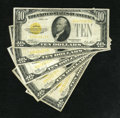 Small Size:Gold Certificates, Fr. 2400 $10 1928 Gold Certificate. Fine.. Gold certificates are always popular and in demand....