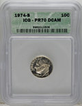 Proof Roosevelt Dimes: , 1974-S 10C PR70 Deep Cameo ICG. PCGS Population (12/0). NumismediaWsl. Price for NGC/PCGS coin in PR70...