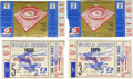Baseball Collectibles:Tickets, 1970 World Series Ticket Stubs Lot of 4. After concluding the 1970season with an incredible 108 wins, the mighty Baltimore...