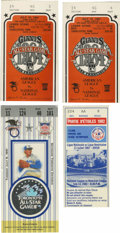Baseball Collectibles:Tickets, 1982-91 All-Star Game Ticket Stubs Lot of 4. Nice collection ofticket stubs from MLB's All-Star games, all dating from 198...
