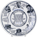 "Autographs:Others, Burleigh Grimes Signed Plate. Commemorative 10"" souvenir plate wasmanufactured by the Wisconsin company Culbert-Swan Produ..."