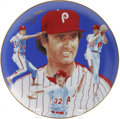 """Autographs:Others, Steve Carlton Signed Hackett American Plate. 1984 release plate isan attractive 10"""" example based on the work of renowned ..."""