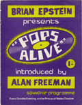 "Music Memorabilia:Memorabilia, Rare Beatles ""Pops Alive"" Program, 1964. A program from BrianEpstein's concert series ""Pops Alive"" hosted by Alan Freeman a...(Total: 1 Item)"