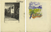 """Stuart Sutcliffe Signed Drawing. Regularly referred to as """"The Fifth Beatle"""" and often credited with naming th..."""
