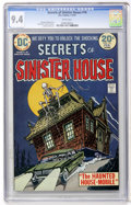 Bronze Age (1970-1979):Horror, Secrets of Sinister House #16 (DC, 1974) CGC NM 9.4 White pages....