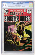 Bronze Age (1970-1979):Horror, Secrets of Sinister House #14 (DC, 1973) CGC NM 9.4 Off-white towhite pages....