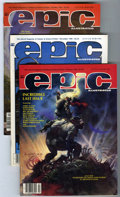 Magazines:Science-Fiction, Epic Illustrated Group (Marvel, 1980-86) Condition: AverageVF/NM.... (Total: 23 Comic Books)