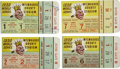 Baseball Collectibles:Tickets, 1958 World Series Ticket Stub Lot of 4. Lot of four ticket stubsfrom the 1958 World Series. These tickets are for the Milwa...
