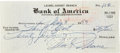 Movie/TV Memorabilia:Autographs and Signed Items, Marilyn Monroe Signed Check, 1953. A check completely handwrittenand signed by Marilyn Monroe in blue ink. The check is dra...(Total: 1 Item)
