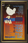 "Music Memorabilia:Posters, ""Reunion of Old Friends"" Signed Concert Poster, 388/600 (SevaFoundation, 1994). The 1969 Woodstock Festival was relived for...(Total: 1 Item)"