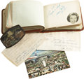 Music Memorabilia:Autographs and Signed Items, Grand Ole Opry Legends Autograph Archive. Included is a leather-bound autograph book containing multiple signatures from the... (Total: 1 Item)
