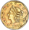 California Fractional Gold, 1853 50C Peacock Reverse 50 Cents, BG-302, Low R.4, MS61 NGC....