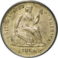 Seated Half Dimes, 1865-S H10C --Repunched Date--MS63 PCGS....
