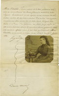 Autographs:Non-American, Empress Eugénie of France Letter Signed,...