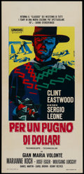"Movie Posters:Western, A Fistful of Dollars (Unidis, R-1965). Italian Locandina (13"" X 28""). Western...."
