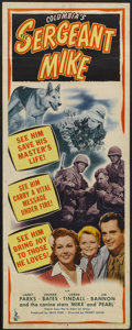 "Movie Posters:War, Sergeant Mike (Columbia, 1944). Insert (14"" X 36""). War...."