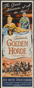 "Movie Posters:Adventure, The Golden Horde (Universal International, 1951). Insert (14"" X36""). Adventure...."
