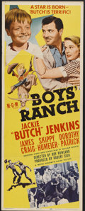 "Movie Posters:Drama, Boys' Ranch (MGM, 1946). Insert (14"" X 36""). Drama...."