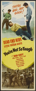 """Movie Posters:Drama, You're Not So Tough (Realart, R-1948). Insert (14"""" X 36""""). Drama...."""