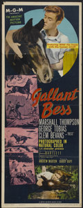 "Movie Posters:Adventure, Gallant Bess (MGM, 1946). Insert (14"" X 36""). Adventure...."