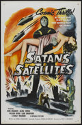 "Movie Posters:Science Fiction, Satan's Satellites (Republic, 1958). One Sheet (27"" X 41""). ScienceFiction...."