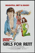 """Movie Posters:Sexploitation, Girls For Rent (Independent International Pictures, 1974). OneSheet (27"""" X 41""""). Sexploitation...."""