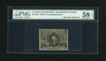 Fractional Currency:Second Issue, Fr. 1232 5c Second Issue Butterfly Fold Error PMG Choice About Unc 58 EPQ....