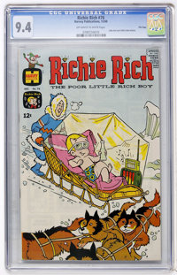Richie Rich #76 File Copy (Harvey, 1968) CGC NM 9.4 Off-white to white pages