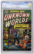 Golden Age (1938-1955):Horror, Journey Into Unknown Worlds #10 (Atlas, 1952) CGC VF- 7.5 Cream tooff-white pages....