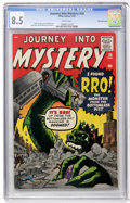 Silver Age (1956-1969):Science Fiction, Journey Into Mystery #58 White Mountain pedigree (Marvel, 1960) CGCVF+ 8.5 White pages....
