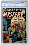 Golden Age (1938-1955):Horror, Journey Into Mystery #24 White Mountain pedigree (Marvel, 1955) CGCVF 8.0 White pages....