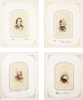 Autographs:Statesmen, Group Lot of Eight Cartes de Visite of Lincoln Era Statesmenwith Signatures... (Total: 4 Items)