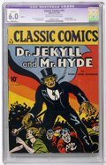 Golden Age (1938-1955):Classics Illustrated, Classic Comics #13 Dr. Jekyll and Mr. Hyde HRN 12 (Gilberton, 1943) CGC Apparent FN 6.0 Slight (P) Cream to off-white pages....