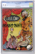 Golden Age (1938-1955):Classics Illustrated, Classic Comics #8 Arabian Knights HRN 17 (Gilberton, 1944) CGC VF- 7.5 Off-white to white pages....