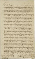 Autographs:Statesmen, Aaron Burr Manuscript Document Signed...