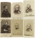 Autographs:Statesmen, Reconstruction Era Carte de Visite Brady PhotographsSigned.... (Total: 6 Items)