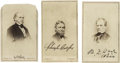 Autographs:Statesmen, Andrew Johnson Impeachment: Chase, Colfax, and Wade Signed BradyCartes de Visite.... (Total: 3 Items)