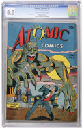 Golden Age (1938-1955):Horror, Atomic Comics #2 (Green Publishing Co., 1946) CGC VF 8.0 Cream tooff-white pages....