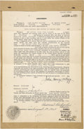 Autographs:Inventors, John Harvey Kellogg Archive. ...