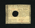 Colonial Notes:New Hampshire, New Hampshire April 29, 1780 $7 Extremely Fine-About New....