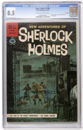 Silver Age (1956-1969):Mystery, Four Color #1169 New Adventures of Sherlock Holmes - File Copy(Dell, 1961) CGC VF+ 8.5 Cream to off-white pages....