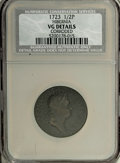 1723 1/2P Hibernia Halfpenny--Corroded--NCS VG Details. NGC Census: (0/0). PCGS Population (1/355). (#180)...(PCGS# 180)