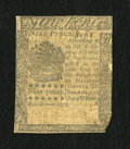 Colonial Notes:Pennsylvania, Pennsylvania October 25, 1775 9d Fine....