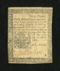 Colonial Notes:Pennsylvania, Pennsylvania April 20, 1781 9d Very Fine....