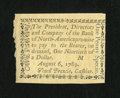 Colonial Notes:Pennsylvania, Pennsylvania Bank of North America August 6, 1789 1d Gem New....