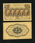 Fractional Currency:First Issue, Fr. 1282SP 25c First Issue Medium Margin Pair Choice New.... (Total: 2 notes)