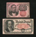 Fractional Currency:Fifth Issue, Pair of Pink Fractionals, Extremely Fine....