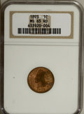 Indian Cents: , 1893 1C MS65 Red NGC. . NGC Census: (72/25). PCGS Population(73/22). Mintage: 46,642,196. Numismedia Wsl. Price for NGC/PC...