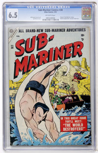 Sub-Mariner Comics #38 (Atlas, 1955) CGC FN+ 6.5 Off-white pages